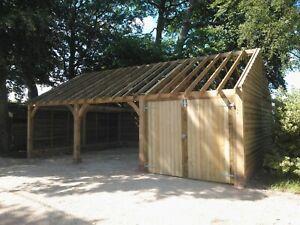 3 Bay Oak Framed Garage / Car Barn