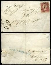 Penny Red Lcp14 Mis Struck London 1857 Duplex