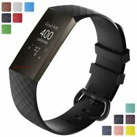 For Fitbit Charge 3, 4 Replacement Silicone Watch Strap Band Men's Women's