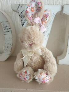 Easter plush soft fluffy bunny beige  personalised with name
