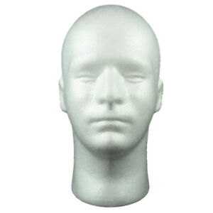 Male Mannequin Head Cosmetics Wig Mannequin For