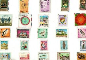 A LOVELY MIX OF ALL DIFFERENT POSTALLY USED KILOWARE STAMPS FROM IRAQ