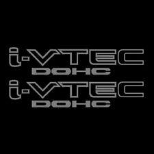 [#205] Two(2) Silver HONDA I-VTEC DOHC Car Decal Vinyl Window Wall Sticker JDM