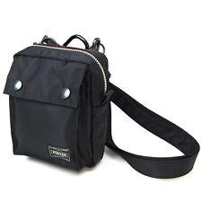 PORTER L-fine Mini Shoulder Bag Black(Backing:Red) Made in Japan