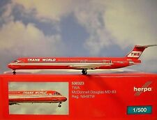 Herpa Wings 1:500 Mc Donnell Douglas MD-83  TWA N948TW  530323  Modellairport500