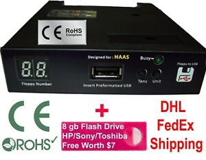 USB Converter for Haas CNC Machines with a Floppy Drive + 16 GB