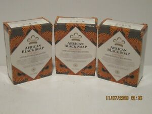 Nubian Heritage African Black Bar Soap 5 oz (141 g)3-PACK NEW IN BOX FREE P-SHIP