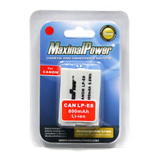 MaximalPower Battery For CANON LP-E8 LPE8 OS Rebel T4i T3i T2i, EOS 650D