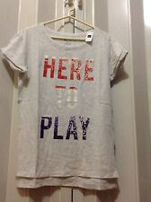 NWT  Gap lady's play tee/heather/size S Tall/100%cotton
