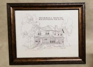 Vintage 1989 NORMAN MERRITT MORRELL HOUSE REDONDO BEACH SIGNED 38/100 PRINT