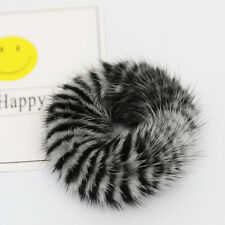 Mink Fur Hair Bands Scrunchy Hair Rope, Real Fur HairBand