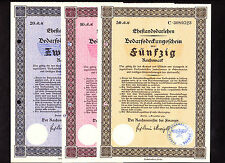 "THIRD REICH NAZI BOND SERIES:   4   ""MARRIAGE LOANS""  1933"