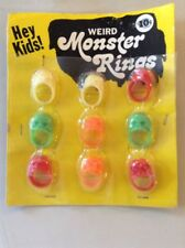 Vintage Vending Display Weird Monster Rings Skulls Zombie Ghouls VGC!