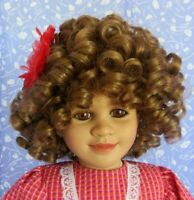 CHARLOTTE Auburn Full Cap Doll Wig SZ 12-13 Curly, Moppet Style - Adorable!