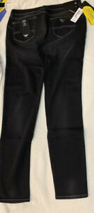 EMPORIO ARMANI J23 mid rise skinny jeans Washed Black Size 30 Selfridges Rrp£175