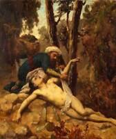 "oil painting 100% handpainted on canvas ""The Merciful Samaritan"""