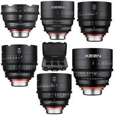 XEEN 6 Cine Lens Kit for Canon EF - 16mm + 24mm + 35mm + 50mm + 85mm + 135mm