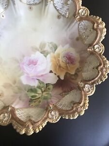 Nippon Jeweled Berry Serving Bowl Roses