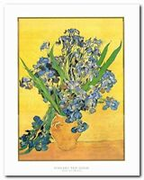 Vincent Van Gogh Vase Of Irises Wall Decor Art Print Poster (22x28)