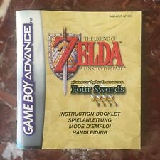 The Legend of Zelda A Link to the Past / Four Swords GBA GameBoy Advance(notice)