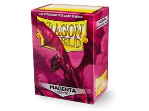 DRAGON SHIELD - MATTE Standard Card Sleeves MAGENTA Pack of 100 #AT-11026