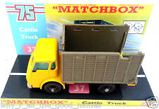 Vintage MATCHBOX Series 37 CATTLE TRUCK Diecast Model & Custom Display