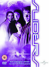 Sliders - Series 1 And 2 - Complete (DVD, 2004, Box Set) sci-fi action adventure