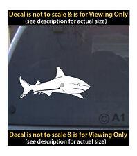 Shark vinyl decal 6 inch fishing ocean outdoors 4 car truck home laptop fun more