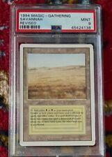 1994 Magic The Gathering MTG Revised Dual Land Savannah PSA 9 MINT