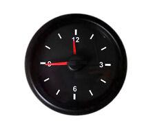 """12 volt Black Analog Clock Gauge 52mm 2 1/16"""" Led lighting Easy to Read & Set"""
