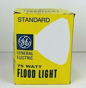 General Electric 75 WATT FLOOD LIGHT CLEAR NEW ORIGINAL BOX UNTESTED