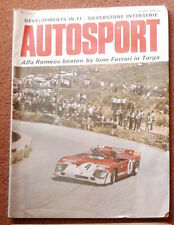 Autosport 25th May 1972 David Purley wins Chimay F3, Alfetta tested, Saab 99 EAH