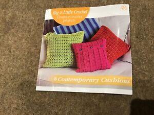 Crochet book Big and little crochet  8 contemporary cushions