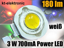 1x High Power LED 3W Emitter weiß 180 lm 5mm Linse