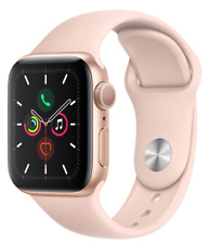 Apple Watch Series 5 GPS 40mm Smart Watch Aluminium case Sport Band Gold ECG
