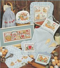 "RARE 1993 DIMENSIONS CHART ""COUNTRY CUPBOARD"" NEW COUNTED CROSS STITCH CHART"
