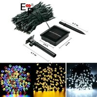 100-200 LED Solar String Lights Outdoor Garden Party Xmas Fairy Wedding Lamp