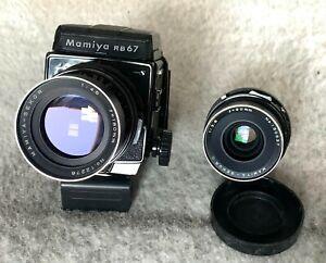 MAMIYA RB67 Pro S 120 SLR Film Camera KIT + 90mm 180mm LENSES + CASE + MORE EXC+