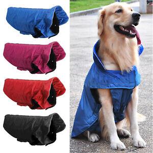 New Dog Pet Outdoor Winter Waterproof Rain Coat Jacket Fleece Reflective Safe