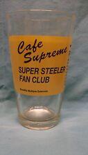 Pepsi Logo ~ Cafe Supreme ~ Super Steeler Fan Club 1997 ~ Drinking Glass