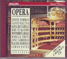 NORMAN BALTSA RICCIARELLI TE KANAWA CABALLE FRENI - OPERA - Philips CD 1989
