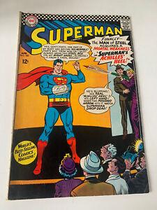 """Superman #185 (DC 1966) """"Achilles' Heel"""" Silver Age"""