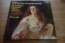 DONIZETTI Lucio Di Lammermoor Sutherland Pavarotti BONYNGE 3LP DECCA ffss 528-30