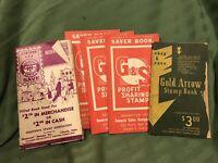 Lot Of Vintage Stamp Books G&S Hometown Golden Arrow Advertising