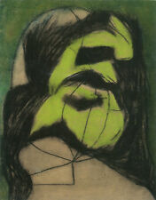 PAINTING VAJDA GREEN MASK ART PRINT PICTURE POSTER HP2897