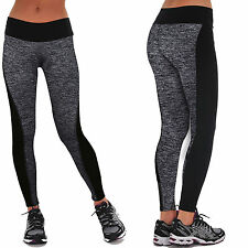 Womens Workout Leggings Yoga Gym Jogging Slim Fit Sports Training Pants Trousers