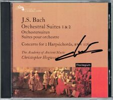 Christophe Rousset signed BACH Harpsichord Concerto suite CD CHRISTOPHER HOGWOOD