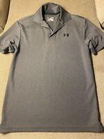 Mens Under Armour Loose Gray Golf Polo Shirt Medium M