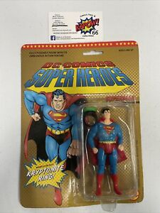 1980s 1989 DC Comics Super Heroes Superman With Kryptonite Ring Figure Unopened