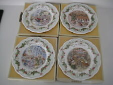 4 x ROYAL DOULTON BRAMBLY HEDGE SET MIDWINTER PLATES DISCOVERY SNOW BALL SUPPER